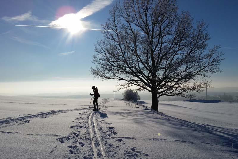 Die Spuren der Ski-enthusiasten